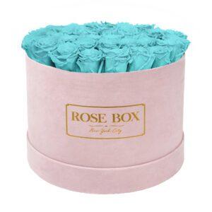 large round pink turquoise